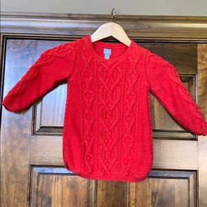 Baby gap 4 years red cable sweater / tunic